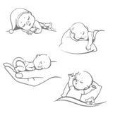 Metta con i bambini addormentati Immagine Stock Libera da Diritti