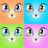 Metta con i gatti variopinti Fotografia Stock