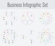 Metta con il infographics Fotografia Stock