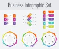 Metta con il infographics Fotografia Stock Libera da Diritti