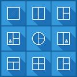 Metta con le icone della finestra Fotografia Stock