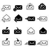 Metta con le icone della posta Immagine Stock Libera da Diritti