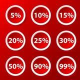 Metta con le percentuali Fotografie Stock