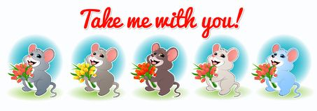 Metta con mouse-01 royalty illustrazione gratis