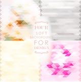 metta con quattro ambiti di provenienza molli del mosaico nei colori rosa, beige e grigi per progettazione Immagine Stock Libera da Diritti