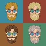 Metta con un uomo con la barba Fotografia Stock