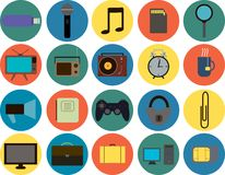 Metta da 20 icone alla moda Fotografia Stock Libera da Diritti