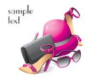 Metta degli accessori di modo delle donne Vettore illustrazione di stock