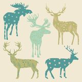 Metta degli alci e della renna illustrazione vettoriale
