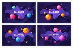Metta degli ambiti di provenienza futuristici dello spazio cosmico della galassia del fumetto, progettazione royalty illustrazione gratis