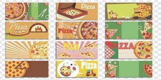 Metta degli ambiti di provenienza isolati della pizza immagini stock libere da diritti