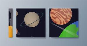 Metta degli opuscoli per esplorazione spaziale e la ricerca di gravità royalty illustrazione gratis
