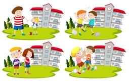 Metta dei bullys e dei bambini illustrazione di stock