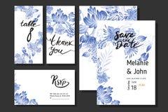 Metta dei fiori e dell'uccello blu illustrazione vettoriale