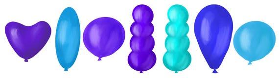 Metta dei palloni variopinti, l'illustrazione digitale, colori differenti illustrazione di stock