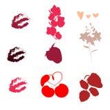 metta dei profili e delle ombre degli elementi per le cartoline royalty illustrazione gratis