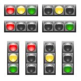 Metta dei semafori orizzontali e verticali illustrazione vettoriale