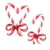 Metta del bastoncino di zucchero di Natale illustrazione vettoriale