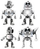 Metta del carattere del robot royalty illustrazione gratis