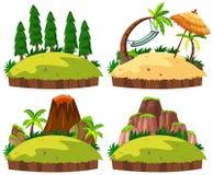 Metta del fondo bianco delle isole royalty illustrazione gratis
