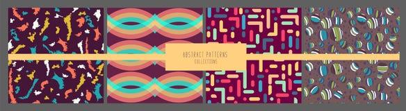 Metta del modello senza cuciture geometrico d'avanguardia collezioni astratte Retro struttura di stile, modello ed elementi geome illustrazione di stock
