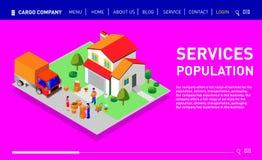 Metta del sito Web di progettazione, della pagina d'atterraggio o del modello della presentazione royalty illustrazione gratis
