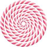 Metta del telaio duro torto rosa del bastoncino di zucchero con ombra ENV 10 illustrazione vettoriale