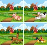 Metta dell'animale a terreno coltivabile royalty illustrazione gratis