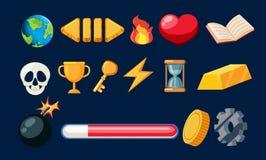 Metta dell'icona del gioco illustrazione di stock
