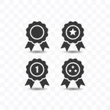 Metta dell'illustrazione piana semplice di vettore di stile dell'icona del premio illustrazione di stock