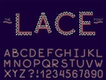 Metta della fonte e dell'alfabeto dell'estratto di vettore illustrazione di stock