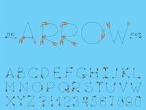 Metta della fonte e dell'alfabeto dell'estratto di vettore royalty illustrazione gratis