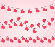 Metta della ghirlanda di forma del cuore per il biglietto di S. Valentino royalty illustrazione gratis