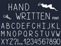 Metta della linea fonte semplice e l'alfabeto di vettore royalty illustrazione gratis