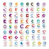 Metta della raccolta astratta di logo della lettera di C royalty illustrazione gratis