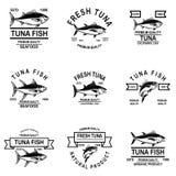 Metta delle etichette dei tonnidi Progetti l'elemento per il logo, l'etichetta, l'emblema, segno fotografia stock