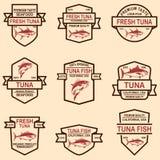 Metta delle etichette dei tonnidi Progetti l'elemento per il logo, l'etichetta, l'emblema, segno fotografia stock libera da diritti