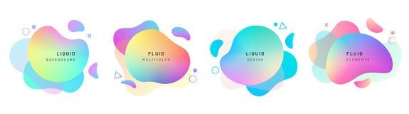 Metta delle forme liquide astratte isolate, dinamica illustrazione vettoriale