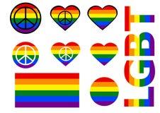 Metta delle icone di LGBT lgbt della bandiera Vettore royalty illustrazione gratis