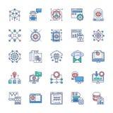 Metta delle icone moderne della tecnologia illustrazione vettoriale