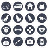 Metta delle icone per medicina, la sanità, la farmacia, veterinario su un fondo bianco immagine stock