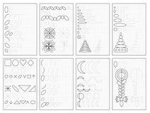 Metta delle pagine educative in bianco e nero su carta quadrata per i bambini Foglio di lavoro stampabile per il manuale dei bamb royalty illustrazione gratis