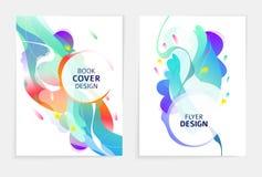 Metta delle progettazioni per l'aletta di filatoio, il broshure, la copertina di libro, il manifesto, il web, rapporto annuale illustrazione di stock