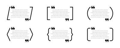 Metta delle scatole di citazione Fumetti isolati su fondo bianco illustrazione vettoriale