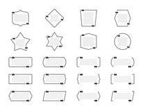 Metta delle scatole di citazione Fumetti, strutture in bianco per le citazioni isolate su fondo bianco illustrazione vettoriale