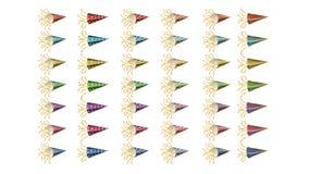 Metta di progettazione dell'illustrazione del grafico di vettore della celebrazione del partito del nuovo anno della tromba illus illustrazione vettoriale