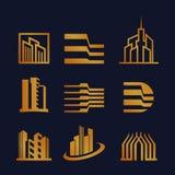 Metta di Real Estate unico Logo Design illustrazione vettoriale