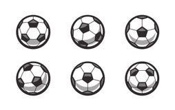 Metta di retro palloni da calcio di vettore illustrazione vettoriale