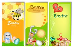 Metta di tre insegne verticali di Pasqua royalty illustrazione gratis