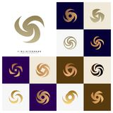 Metta di vortice Logo Design Concept Vector Icona di uragano Tornado Logo Symbol royalty illustrazione gratis